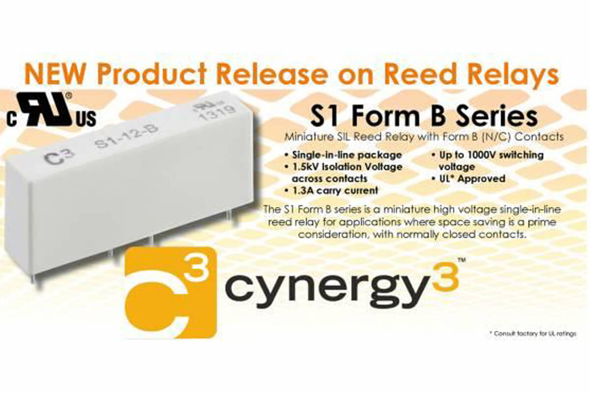 NEW Product Release on Reed Relay S1 Form B Series